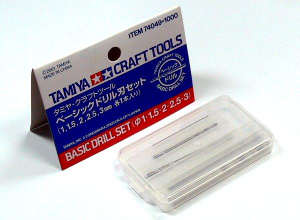 Tamiya Model Craft Tools Basic Drill Set (5pcs) 74049