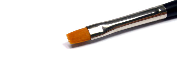Tamiya Model Paints & Finishes Modeling No.2 High Finsh Flat Brush 87047