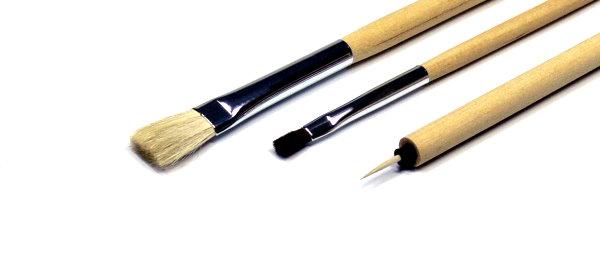 Tamiya Model Paints & Finishes Modeling Brush Basic Set (3pcs) 87066
