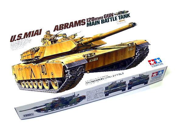 Tamiya Military Model 1/35 US M1A1 Abrams 120mm GUN Main Battle Tank Hobby 35156