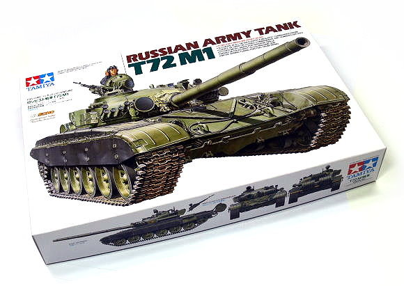 Tamiya Military Model 1/35 Russian Army Tank T72M1 Scale Hobby 35160