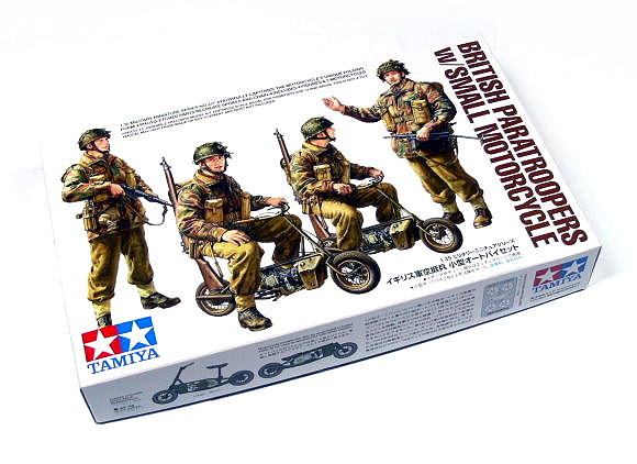 Tamiya Military Model 1/35 British Paratroopers w/Small Motorcycle Hobby 35337