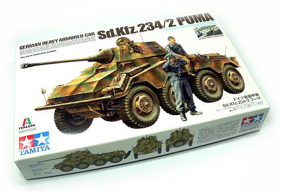 Tamiya Military Model 1/35 German Heavy Armored Car Sd.Kfz.234/2 PUMA 37018