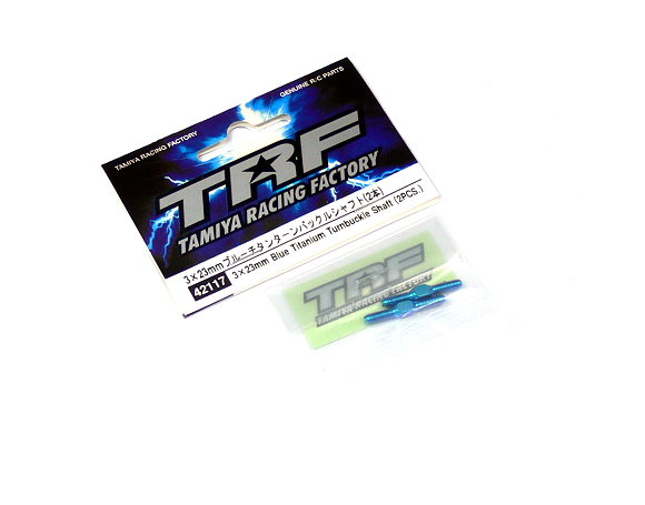 Tamiya RC Model TRF 3x23mm Blue Titanium Turnbuckle Shaft (2pcs) 42117