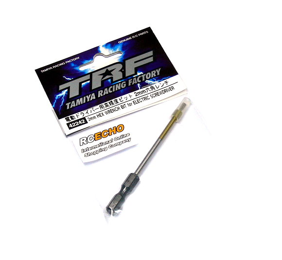 Tamiya Model Craft Tools TRF 2mm HEX Wrench Bit for Electric Screwdriver 42242