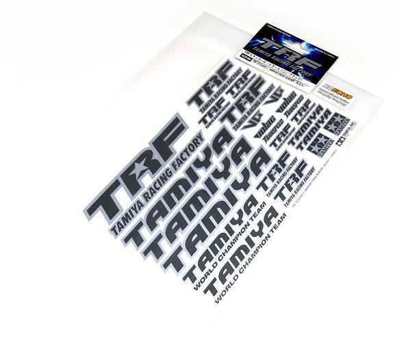 Tamiya RC Model Racing Factory TRF Sticker C (Mirror Finish Border/Black) 42246