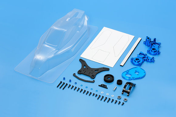 Tamiya RC Car Body TRF201 XM Conversion Set (Midship Motor) 42257
