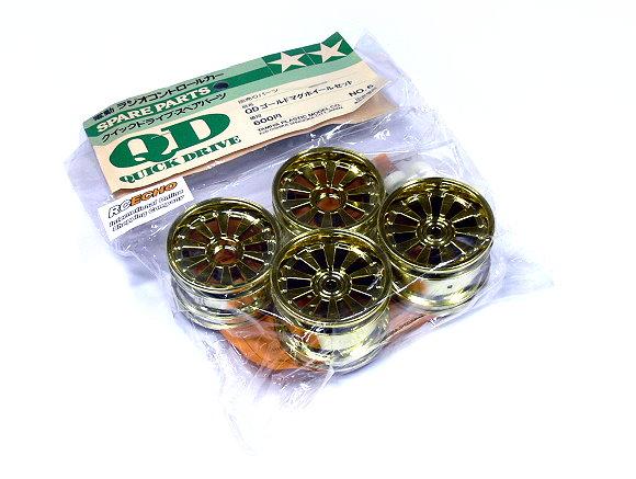 Tamiya RC Model 1/14 Quick Drive R/C QD Gold Mag Wheel Set (F&R) (4pcs) 43006