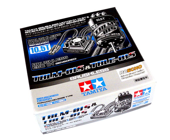 Tamiya RC Model Brushless Motor 01 10.5T & Brushless ESC 01 Set (Sensored) 45048
