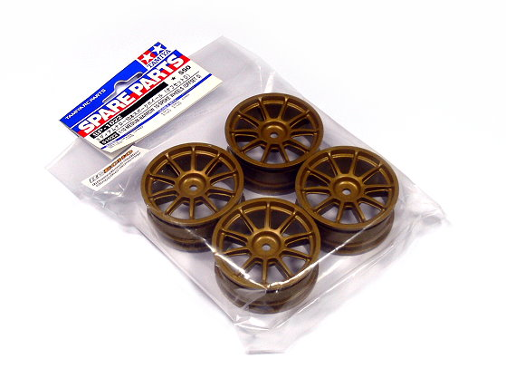 Tamiya RC Model 1/10 Medium-Narrow 10-Spoke Wheels (Offset 0) (4pcs) 51022
