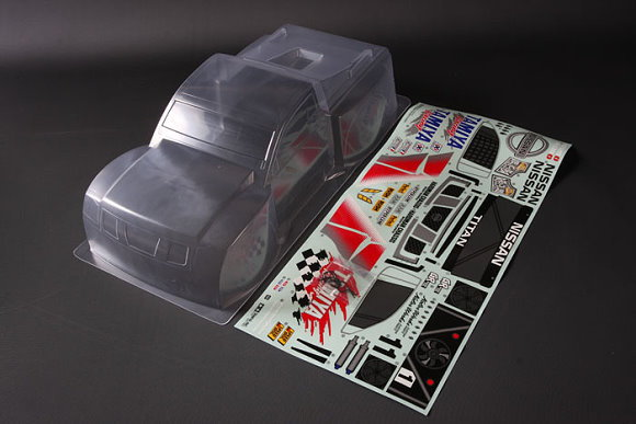 Tamiya RC Car Body 1/12 Scale Racing Truck Nissan Titan Body Parts Set 51490