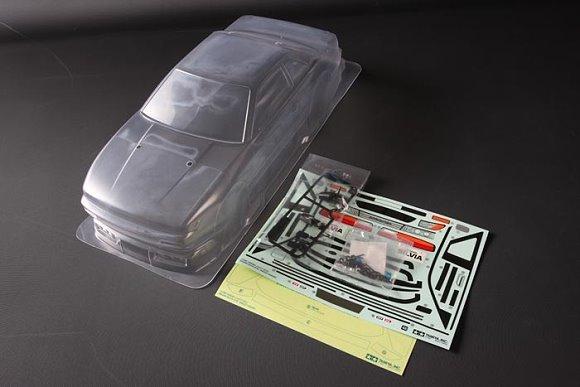 Tamiya RC Car Body 1/10 Scale R/C Nissan Silvia (S13) Body Parts Set 51496