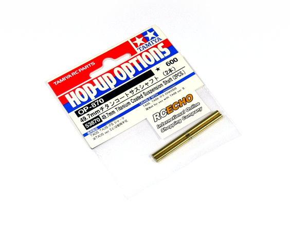Tamiya Hop-Up Options 49.7mm Titanium Coated Suspension Shaft OP-870 53870