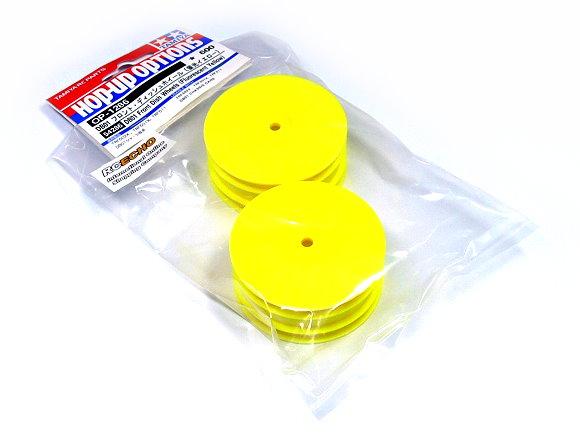 Tamiya RC Model DB01 Front Dish Wheels (Fluorescent Yellow) (2pcs) 54286