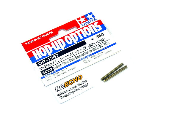 Tamiya Hop-Up Options 2.6x27mm Titanium Coated Suspension Shaft OP-1387 54387