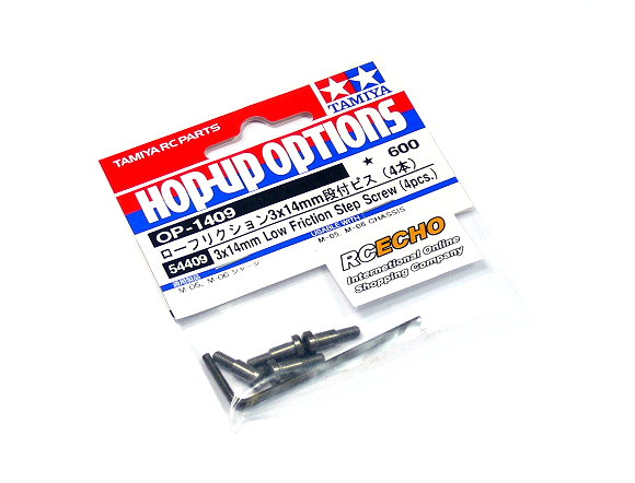 Tamiya RC Model 3x14mm Low Friction Step Screw (4pcs) 54409