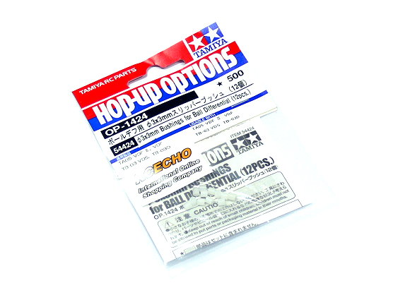Tamiya Hop-Up Options 3x3mm Bushings for Ball Differential (12pcs) OP-1424 54424