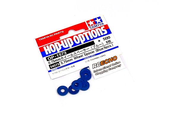 Tamiya Hop-Up Options 0.75mm Wheel Spacer (Blue/8pcs) OP-1573 54573