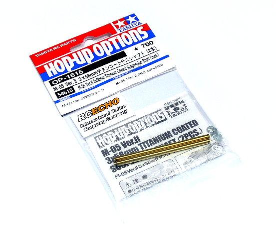 Tamiya Hop-Up Options M05 Ver.II 3x58mm Titanium Suspension Shaft OP-1615 54615