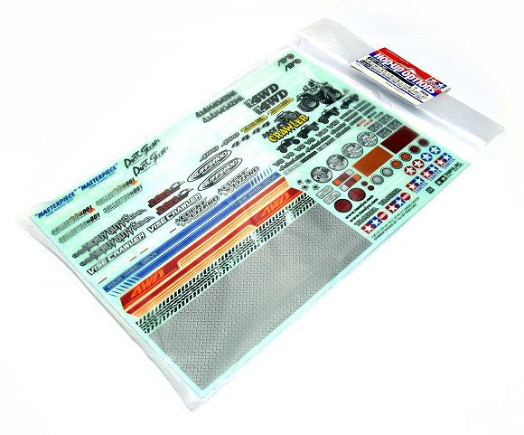 Tamiya RC Model Hop-Up Sponsor Sticker Set (for Off-Road Car) 54630