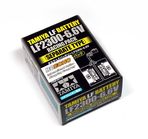 Tamiya RC Model LF2300-6.6V Racing Pack (Separate Type) LF Battery 55112