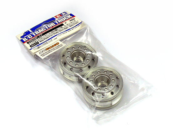 Tamiya RC Model 1/14 R/C Tractor Truck Metal-Plated Front Wheels Matte 56517