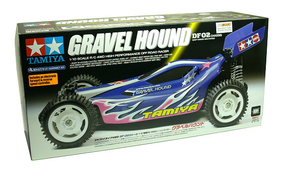 Tamiya EP RC Car 1/10 GRAVEL HOUND DF02 Chassis Shaft Driven 4WD with ESC 58328
