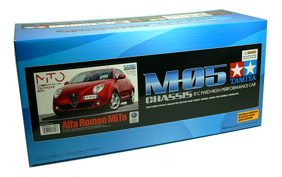 Tamiya EP RC Car 1/10 Alfa Romeo MiTo M05 Chassis FWD Car with ESC 58453