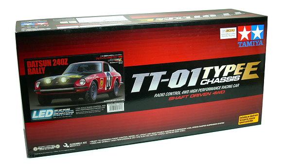 Tamiya EP RC Car 1/10 DATSUN 240Z RALLY TT01 Type E Shaft Driven 4WD & ESC 58462