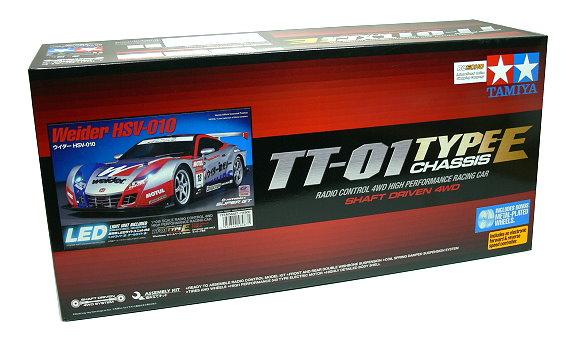 Tamiya EP RC Car 1/10 Weider HSV-010 TT01 Type E Chassis 4WD Car & ESC 58487