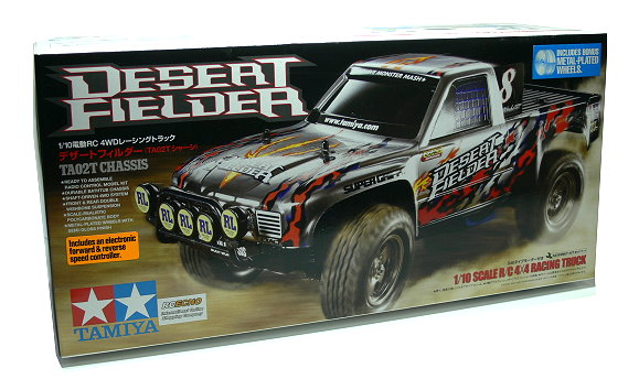 Tamiya EP RC Car 1/10 DESERT FIELDER TA02T 4x4 Racing Truck with ESC 58537