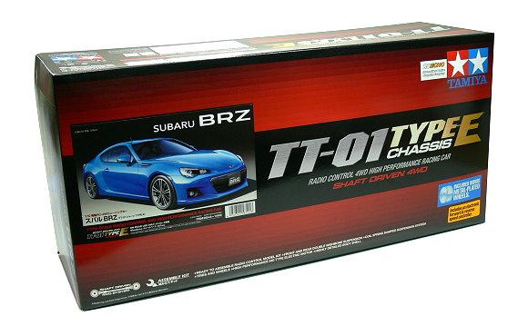 Tamiya EP RC Car 1/10 SUBARU BRZ TT01E Shaft Driven 4WD Racing Car & ESC 58545