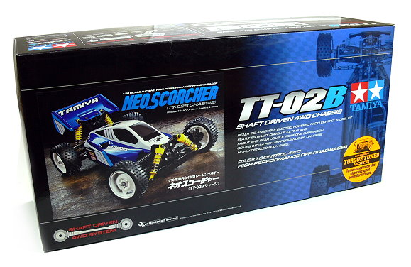 Tamiya EP RC Car 1/10 NEO SCORCHER TT02B Chassis 4WD OFF Road with ESC 58568