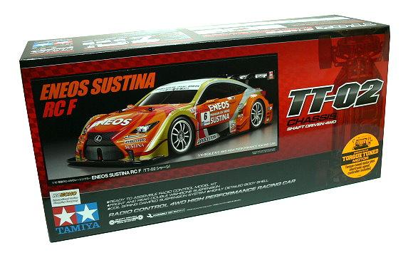Tamiya EP RC Car 1/10 ENEOS SUSTINA RC F TT02 Shaft Driven 4WD & ESC 58597