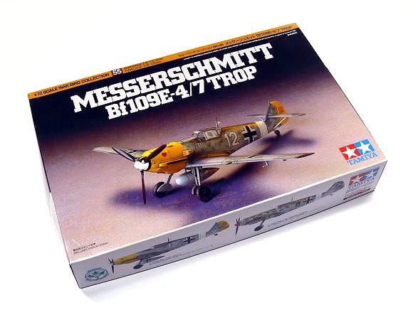 Tamiya Aircraft Model 1/72 Airplane Messerschmitt Bf109E-4/7 Trop Hobby 60755