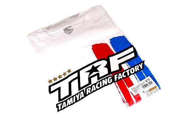 Tamiya RC Model TRF Stripe White T-Shirt A (Large) 67242