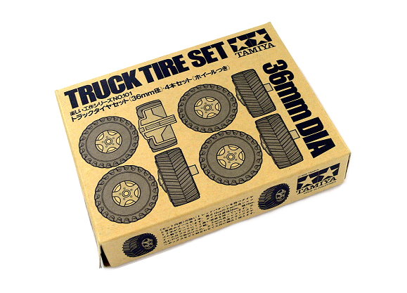 Tamiya Dynamic Model Educational Truck Tire Set 36m Dia 70101