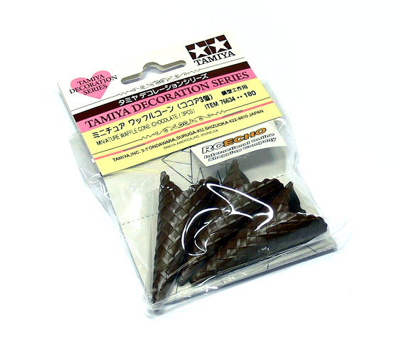 Tamiya Decoration Series Miniature Waffle Cone (Chocolate / 3pcs) 76634