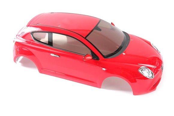 Tamiya RC Car Body 1/10 Scale Alfa Romeo MiTo Body Parts (Red, Finished) 84278