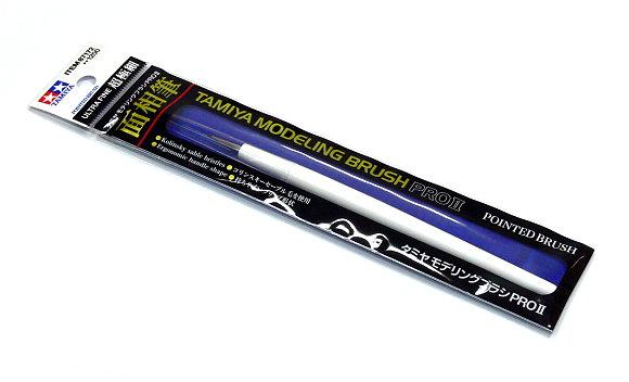 Tamiya Model Paints & Finishes Modeling Pointed Brush Pro II (Ultra Fine) 87172