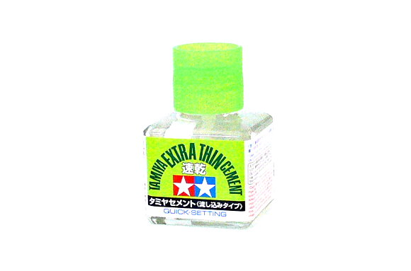 Tamiya Model Paints & Finishes Extra Thin Cement Quick Setting Net 40ml 87182