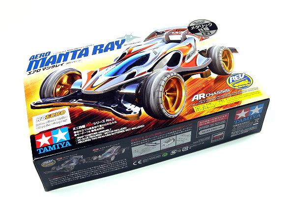Tamiya Model Mini 4WD Racing Car REV 1/32 AERO MANTA RAY AR Chassis 94991