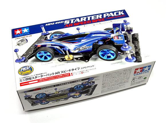 Tamiya Model Mini 4WD Racing Car 1/32 STARTER PACK AR Speed Aero Avante 95210
