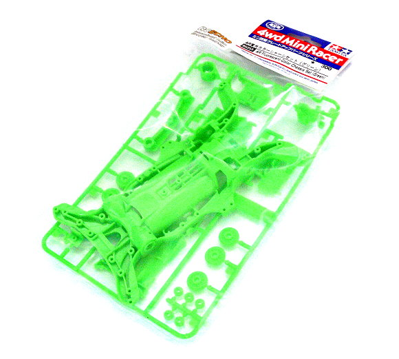 Tamiya Mini 4WD Model Racing AR Fluorescent Color Chassis Set (Green) 95255