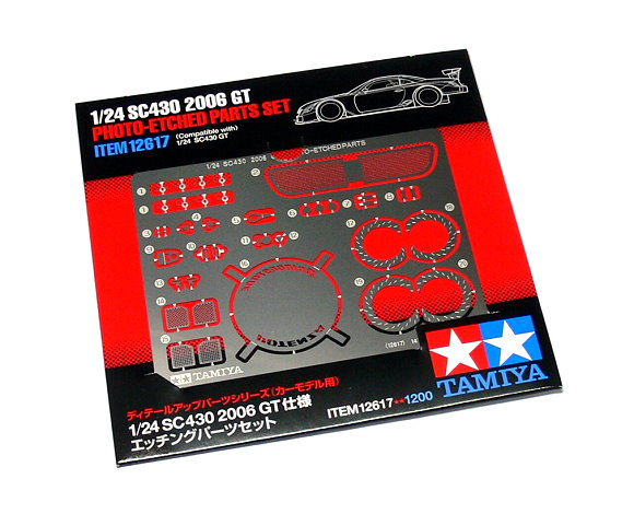 Tamiya Automotive Model Photo-Etched 1/24 Car Open Interface SC430 Parts 12617