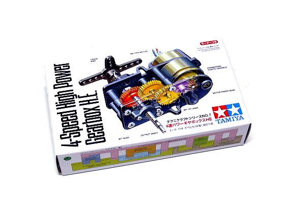 Tamiya Dynamic Model Educational 4-Speed High Power Gearbox H.E. 72007