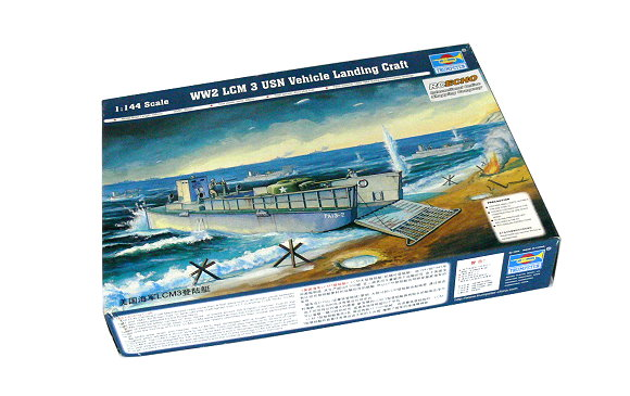 TRUMPETER Military Model 1/144 War Ship LCM3 Vehicle Landing Craft 00102 P0102