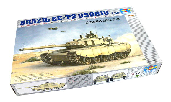 TRUMPETER Military Model 1/35 Brazil EE-T2 OSORIO Scale Hobby 00333 P0333