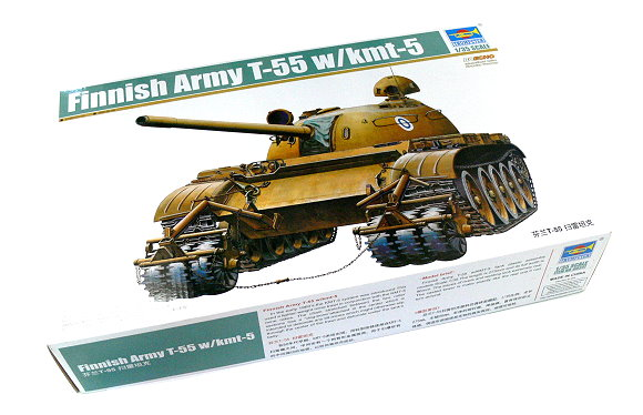 TRUMPETER Military Model 1/35 Finnish Army T-55 with kmt-5 Hobby 00341 P0341
