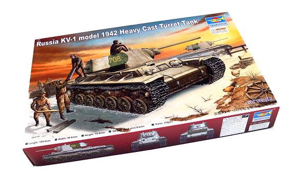 TRUMPETER Military Model 1/35 Russia KV1 1942 Heavy Cast Turret Tank 00359 P0359